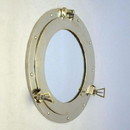 India Overseas Trading MR 4861 Mirror Finish Brass Porthole with Mirror, 15