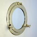 "India Overseas Trading MR4870 - Brass Porthole Mirror, 11"""