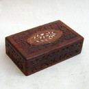 India Overseas Trading SH 104 Carved Wooden Box