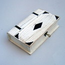 India Overseas Trading SH 1079 Book Shaped Box, White, w Lock & Key