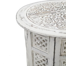 India Overseas Trading SH 120x Carved Wooden Table, Octagonal Stand 18