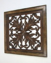 India Overseas Trading SH 15754 Carved Wooden Wall Panel, Wall Hanging, Leafs