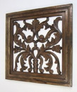 India Overseas Trading SH 15756 Square Wall Panel Brown Wood Screen Room Decorative, 24