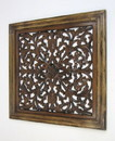 India Overseas Trading SH 15758 Square Wall Panel Brown Wood Screen Room Decorative, 24