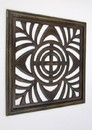 India Overseas Trading SH 15759 Square Wall Panel Brown Wood Screen Room Decorative, 24