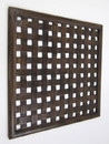 India Overseas Trading SH 15760 Square Wall Panel Brown Wood Screen Room Decorative, 24