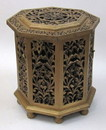 India Overseas Trading SH2320C - 6 Side Large wooden hinged Chest Box Carved