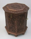 India Overseas Trading SH2320D - 6 Side Large wooden hinged Chest Box Carved