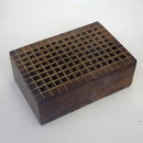 India Overseas Trading SH 6896 Perforated Box Brass Inlaid, 6x4x2