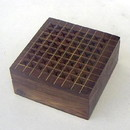 India Overseas Trading SH 6897 Wooden Perforated Box, Brass Inlaid