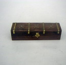 India Overseas Trading SH 6902 Wooden Box Brass Inlaid, 10x3x2