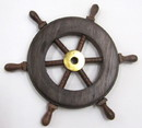 India Overseas Trading SH 8758 Wooden Mini Ship Wheel 6