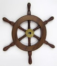 India Overseas Trading SH 8759A Wooden Ship Wheel 9