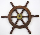 India Overseas Trading SH 8760A Sheesham Mini Wood Ship Wheel, 12