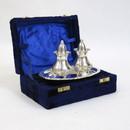 India Overseas Trading SP 2089 Chrome Plated Brass Salt & Pepper Set in Velvet Box