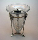 India Overseas Trading SP 2409 Leaf Stand With Crackled Glass