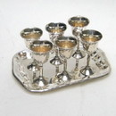 India Overseas Trading SP 26151 Brass Mini Goblet Set, Silver Plated