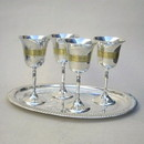 India Overseas Trading SP2626 Goblet Set And Tray