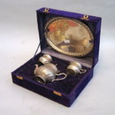 India Overseas Trading SP4309 Brass Tea Set, Silver Plated, Box