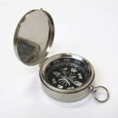 India Overseas Trading SP 4885 Pocket Compass With Lid Chrome Finish