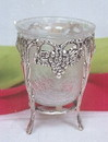 India Overseas Trading SP7568 - Silver Plated Grape Std W/Crack Glass, Not Available in brass.