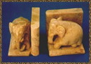 India Overseas Trading SS 1210 Sitting Elephant Book Ends
