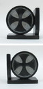 India Overseas Trading SS 12140 Soapstone Bookend Pair, Black Cross (462VAB) 4.5