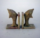 India Overseas Trading SS 1219 SoapStone Dolphin Bookends 4