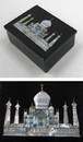 India Overseas Trading SS 23183 Soapstone Black Box, Taj Mahal, Inlaid