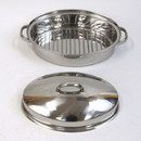 India Overseas Trading SST 6870 Stainless Steel Roaster Set With Cover