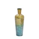 India Overseas Trading VA 31955S Blue Ombre Mosaic Vase - Small