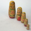 India Overseas Trading WW 10742 Russian Lady Dolls, Set of 5
