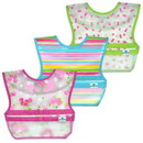 green sprouts Snap & Go Wipe-off Bibs (3pk)