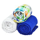 green sprouts Brights Organic Muslin Blanket 3pc Gift Set