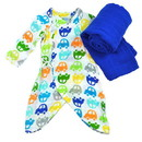 green sprouts Brights Organic Gown & Blanket 2pc Gift Set