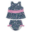 green sprouts BA-2pc Bow Tankini Swimsuit Set with Snap Reusable Absorbent Swim Diaper