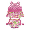green sprouts Mix & Match 2pc Bow Tankini Set:Built-in Reusable Absorbent Swim Diaper