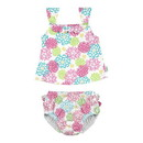 green sprouts 2pc Ruffle Tankini Swimsuit Set with Snap Reusable Absorbent Swim Diaper