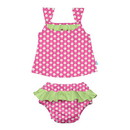green sprouts Classic 2pc Ruffle Tankini Set w/Built-in Reusable Absorbent Swim Diaper