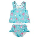 green sprouts 2pc Bow Tankini with Snap Reusable Absorbent Swimsuit Diaper