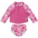green sprouts 2pc LS Zip Rashguard Shirt Set with Snap Reusable Absorbent Swim Diaper