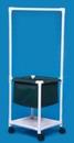 IPU Laundry Hamper W/Hanging Bar & Shelf