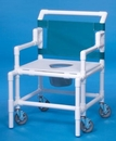 IPU Shower Chair Commode W/Flat Seat             550# Capacity