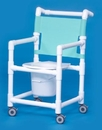 IPU Slant Seat Shower Chair Commode