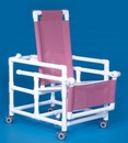 IPU Reclining Shower Chair Commode W/Flat Seat