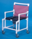 IPU Shower Chair Commode W/Dlx Soft Seat        350# Capacity