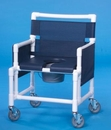 IPU Shower Chair Commode W/Dlx Soft Seat        400# Capacity
