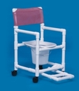 IPU Standard Shower Chair Commode W/Footrest