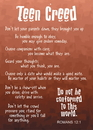 Christian Brands 13688UD Verse Cards Teen Creed