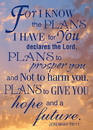 Christian Brands 13811UD Verse Cards Jeremiah 29:11